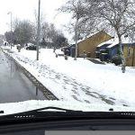 Sne gav problemer på Djursland