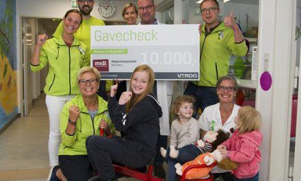 Verdo donerer 10.000 kroner til Børneafdelingen
