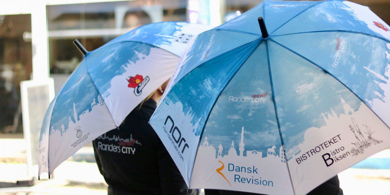 Lån en gratis paraply i Randers City