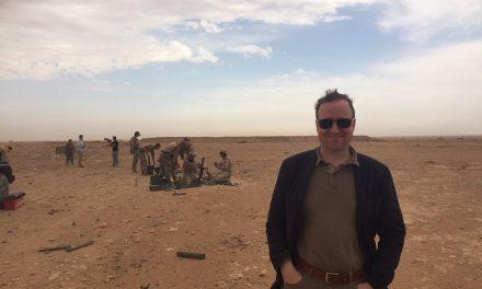 Michael Aastrup på tophemmeligt feltbesøg hos danske soldater i Irak