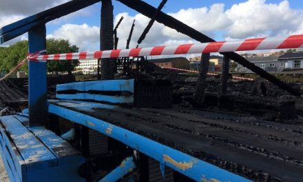 Voldsom brand på Tronholmen