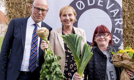 Patientkøkkenet på Regionshospitalet Randers får økologiske roser