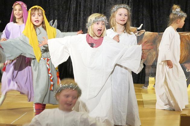 Englene flyver lavt i julemusicalen
