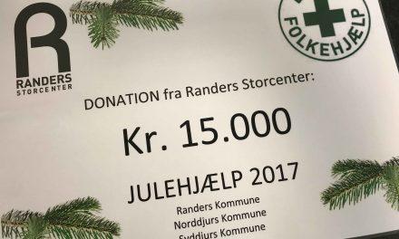 Randers Storcenter støtter igen Dansk Folkehjælp i julen