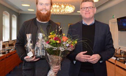 Grand Prix vinder fejret på Rådhuset