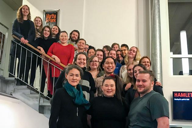 Grønlandske skuespillerstuderende på Randers Egnsteater