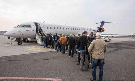 Passagertal vokser vildt i Aarhus Airport