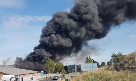 Kraftig røgudvikling i Randers