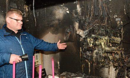 Stadig gang i butikken trods brand