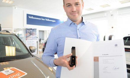 Guldhæder til Volkswagen-sælger