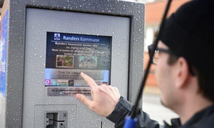 Slut med papirbilletter i parkeringsautomaterne