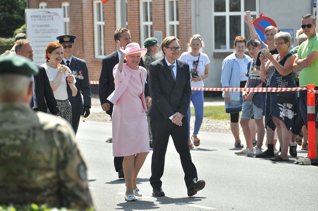 Dronning Margrethe besøgte Hvidsten