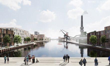 Model af Flodbyen opsættes på Randers Havn