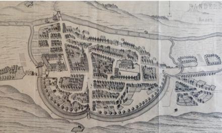 Chr. III`s kanal ved Fort Randers og Randers Slot –