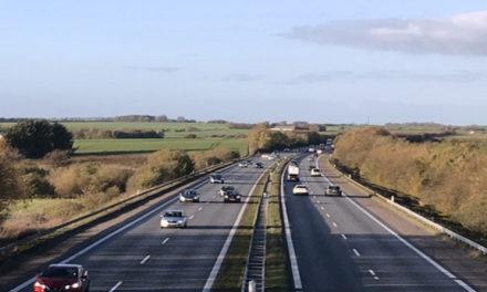 Ulykke spærrede motorvejen ved Randers