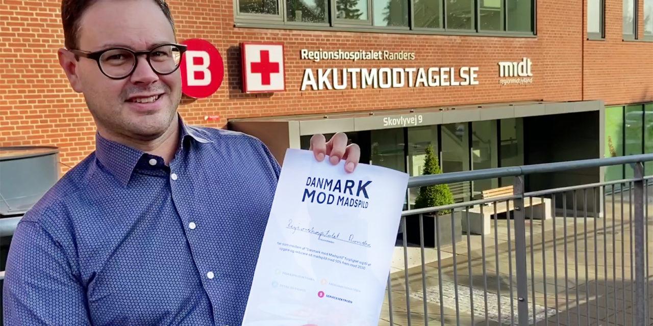 Regionshospitalet Randers forpligtiger sig til at halvere sit madspild