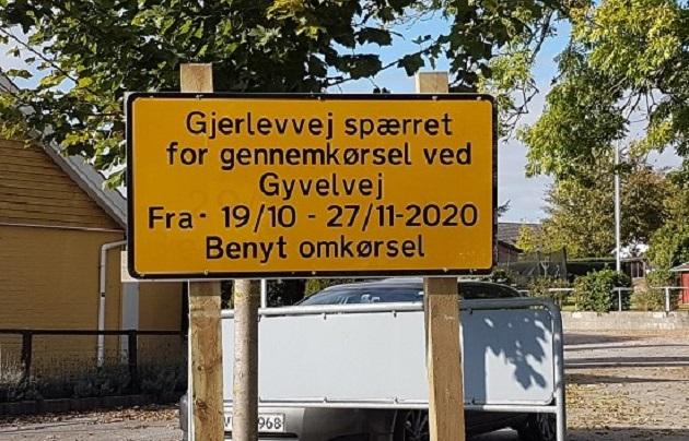 Gjerlevvej spærres i to måneder