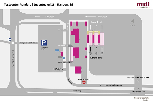COVID-19 testning i Randers samles i Testcenter fra onsdag