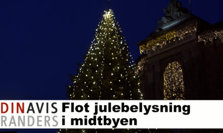 Flot julebelysning i Randers City på årets sidste handelsdag