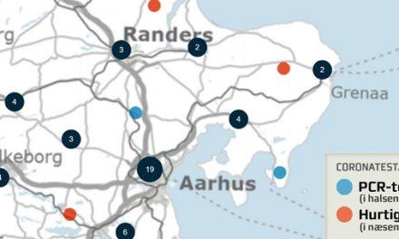 Nyt kort over coronatest-steder