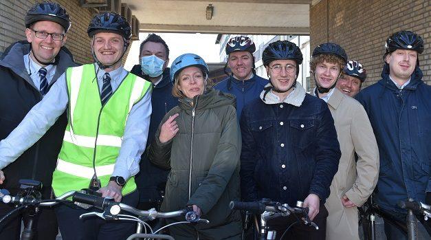 Ansatte er klar til cykelkampagne